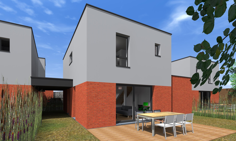 Maison neuve de constructeur vendre mouvaux for Maison cube moderne constructeur